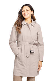 Women's Hooded Waterproof Long Raincoat