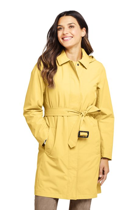 Women's Tall Hooded Waterproof Long Raincoat