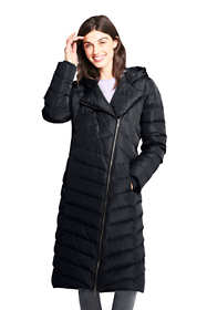 Women's Petite Asymmetrical Down Winter Long Coat