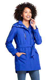 Women's Petite Lightweight Belted Squall Raincoat