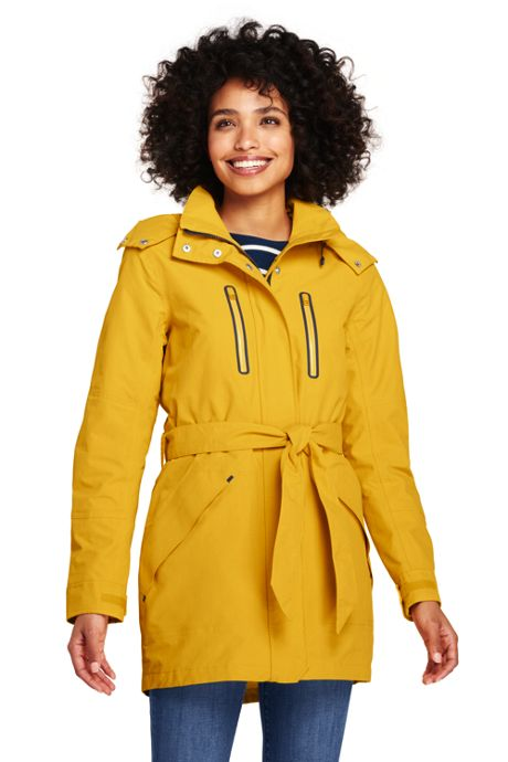 Women's Lightweight Belted Squall Rain Coat
