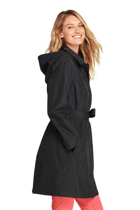 Women's Hooded Waterproof Long Rain Coat