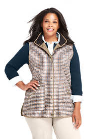 Women's Plus Size Pattern Quilted Barn Insulated Vest