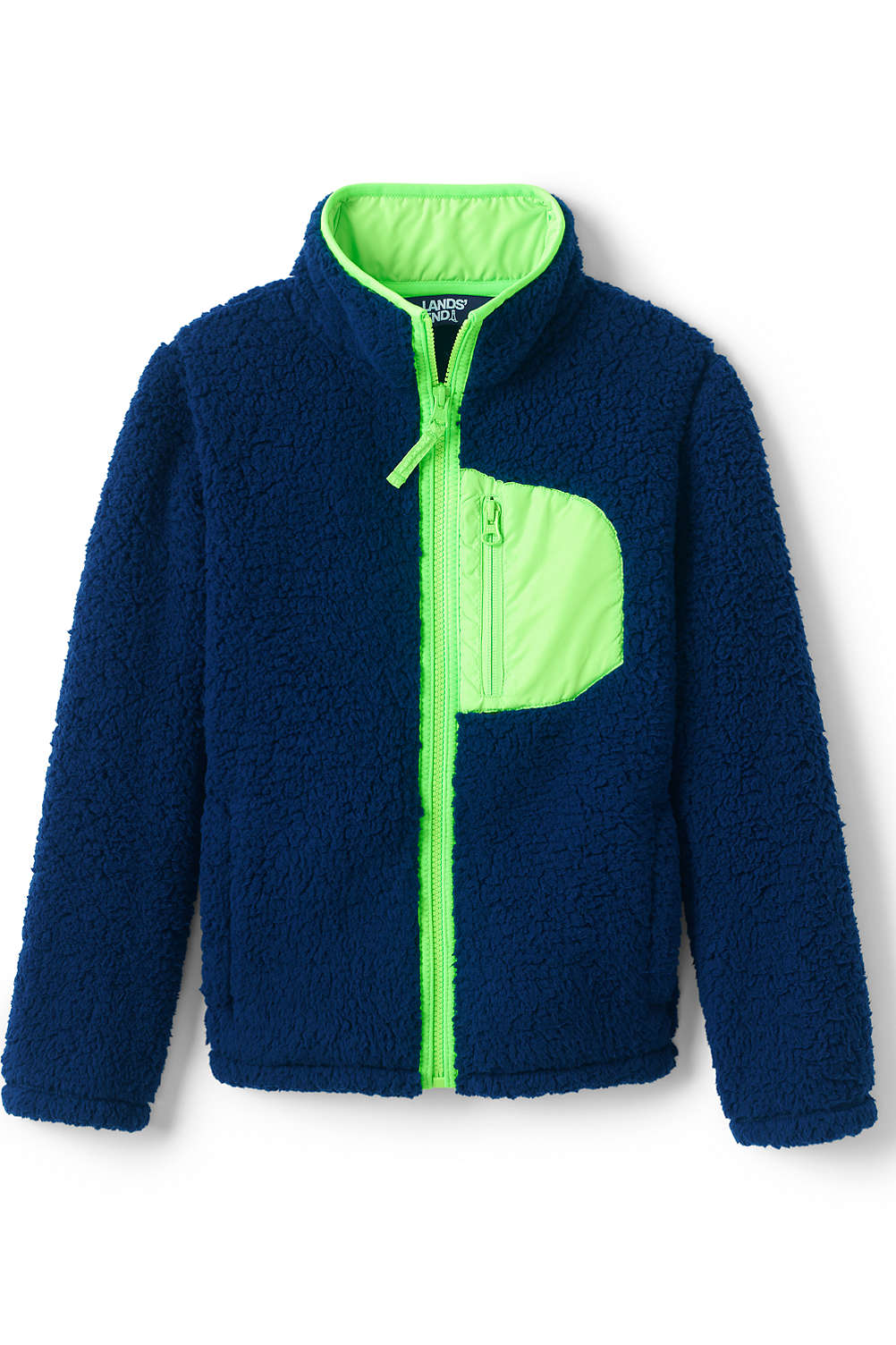 b1f30042261a Kids Sherpa Fleece Jacket from Lands  End