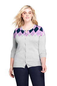 Women's Plus Size Supima Cardigan Sweater