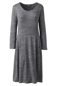 Women's Scoop Neck Airspun Jersey Dress