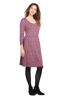 Jerseykleid mit 3/4-Ärmeln für Damen