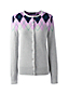 Women's Supima Cotton Argyle Cardigan