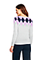 Women's Petite Supima Cotton Argyle Cardigan
