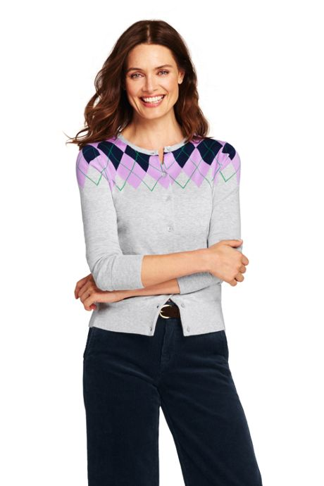 Women's Tall Supima Cardigan Sweater