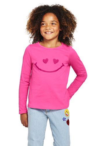 Le T-Shirt Graphique à Motifs Imprimés, Petite Fille