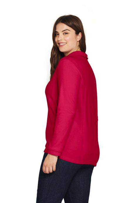 Women's Plus Size Quarter Zip Fleece Pullover