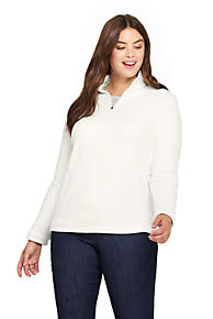 dc05dc5b85c Women s Plus Size Quarter Zip Fleece Pullover