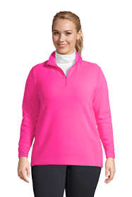 Women's Plus Size Quarter Zip Fleece Pullover Top