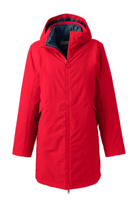Women's Plus Size Squall 3 in 1 Waterproof Winter Long Coat with Hood