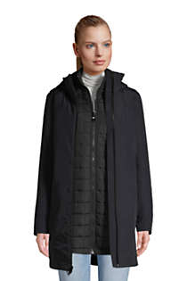 Women's Petite Squall 3 in 1 Waterproof Winter Long Coat with Hood, Unknown