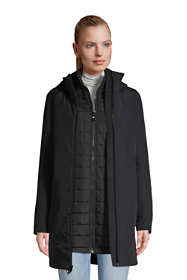 Women's Squall 3 in 1 Waterproof Winter Long Coat with Hood