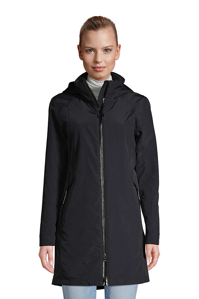 Women's Petite Squall 3 in 1 Waterproof Winter Long Coat with Hood, Front