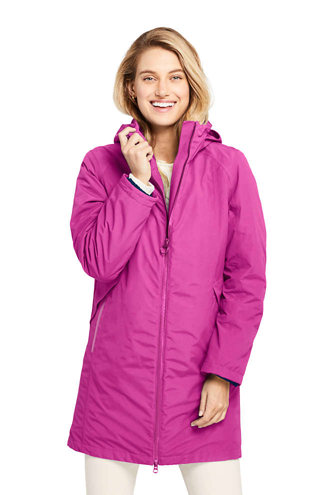 Women's Squall 3 in 1 Waterproof Winter Long Coat with Hood, Front