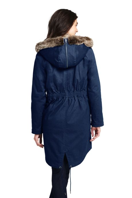 Women's 3 in 1 Long Cotton Parka
