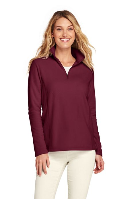 Women's Petite Quarter Zip Fleece Pullover