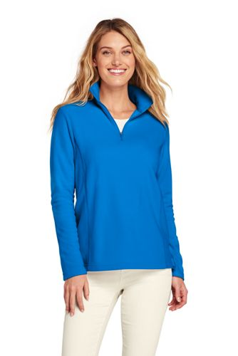 Women's Print Quarter Zip Fleece Pullover