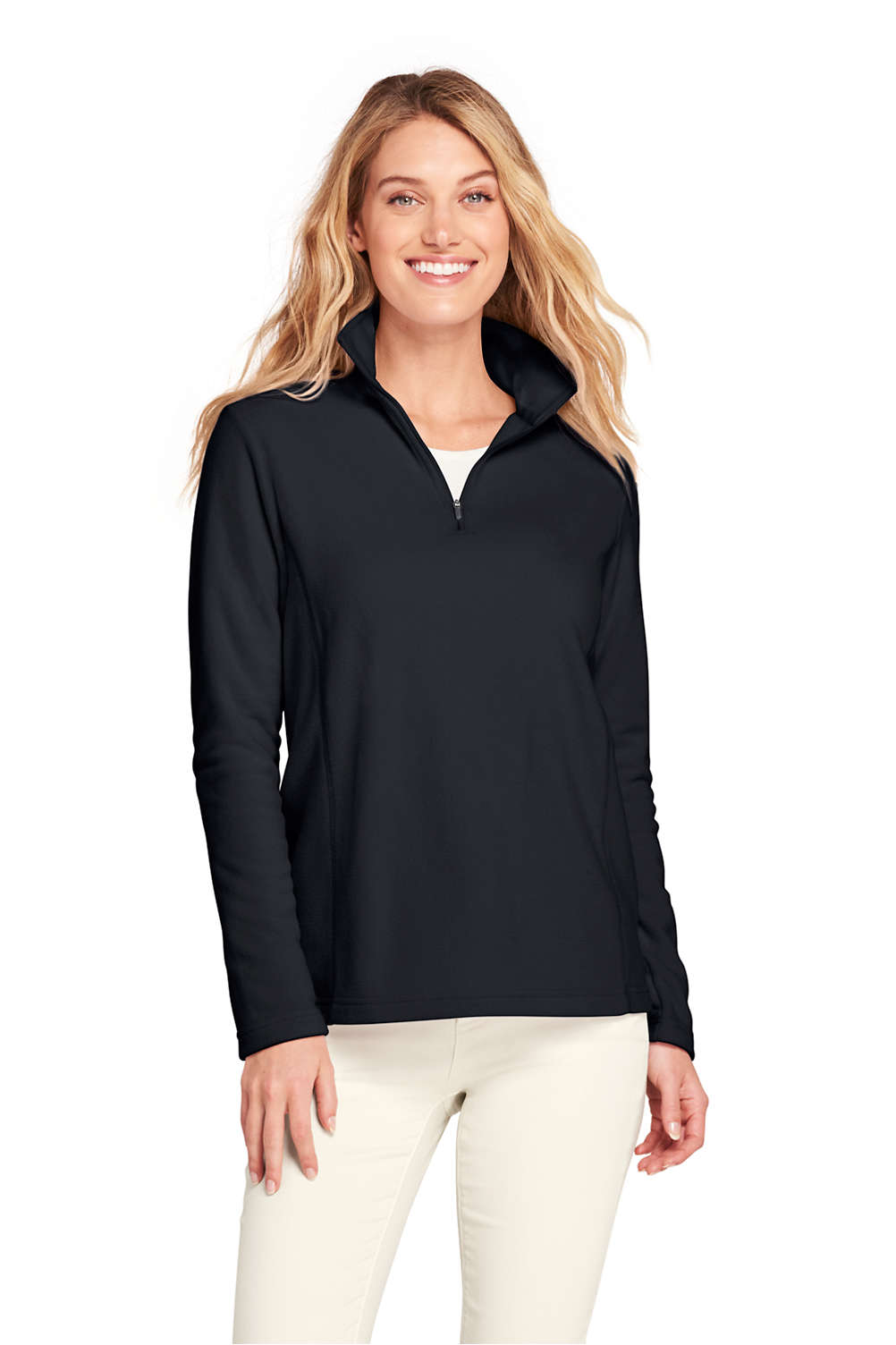 f46f4ea3d02 Women's Quarter Zip Fleece Pullover from Lands' End