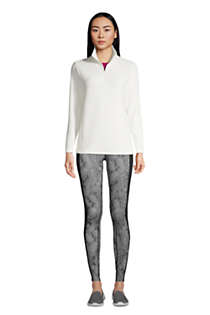 Women's Petite Quarter Zip Fleece Pullover Top, alternative image