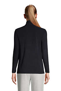 Women's Quarter Zip Fleece Pullover Top, Back
