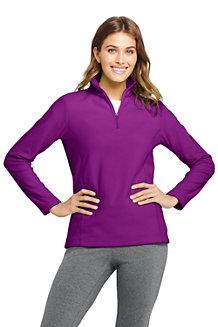 Fleece-Pullover mit Reißverschluss für Damen