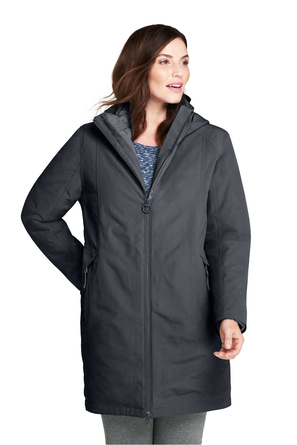 c78910f3f3 Women s Plus Size 3 in 1 Long Squall Coat from Lands  End