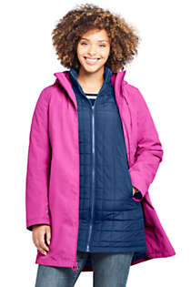 Women's Plus Size Squall 3 in 1 Waterproof Winter Long Coat with Hood, alternative image