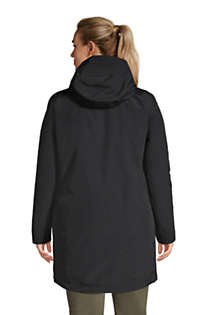 Women's Plus Size Squall 3 in 1 Waterproof Winter Long Coat with Hood, Back