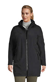 Women's Plus Size Squall 3 in 1 Waterproof Winter Long Coat with Hood, Front