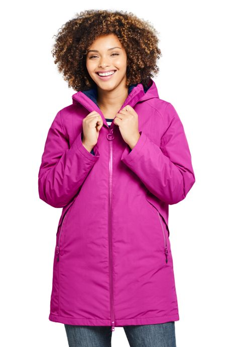 Women's Plus Size 3 in 1 Long Squall Coat