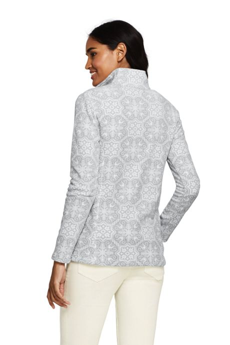 Women's Petite Print Quarter Zip Fleece Pullover