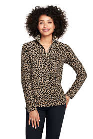 Women's Print Quarter Zip Fleece Pullover