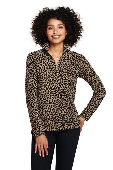 Women's Tall Print Quarter Zip Fleece Pullover