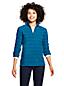 Women's Petite Patterned Half Zip Fleece Top