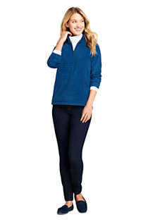 Women's Print Quarter Zip Fleece Pullover Top, Unknown