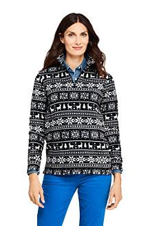 Women's Patterned Half Zip Fleece Top