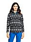 Gemusterter Fleece-Pullover mit Reißverschluss für Damen in Petite-Größe