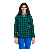 Deals on Lands End Womens Quarter Zip Fleece Pullover Top
