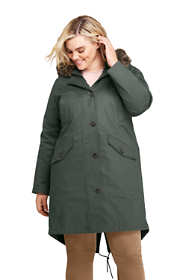 Women's Plus Size 3 in 1 Long Cotton Parka