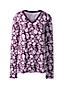 Women's Supima Long Sleeved V-neck Print T-shirt