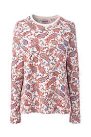 Women's Relaxed Supima Cotton Long Sleeve Crewneck T-Shirt Print