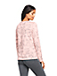 Women's Petite Supima Long Sleeved Patterned Crew Neck T-shirt