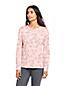 Le T-Shirt Supima Ras-de-cou Imprimé Manches Longues, Femme Stature Petite