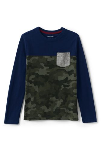 Boys' Colourblock T-shirt with Pocket