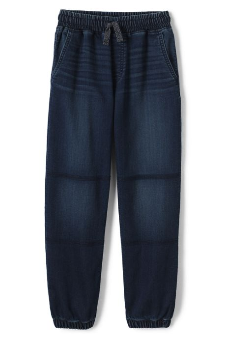 Boys Iron Knee Stretch Denim Joggers